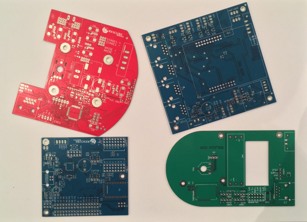 Printed circuit boards before assembly